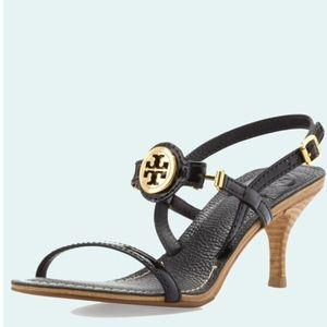 Tory Burch Mira Slingback Logo Sandal